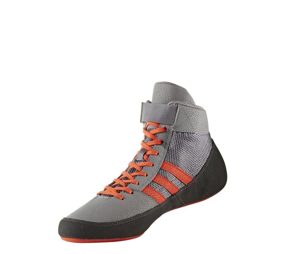Оригинальные Борцовки / Боксерки Wrestling Shoes adidas HVC 2 - Grey/Orange ( бренд Германия )