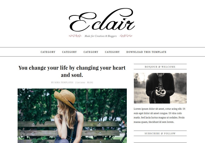 Eclair_Blogger_Template