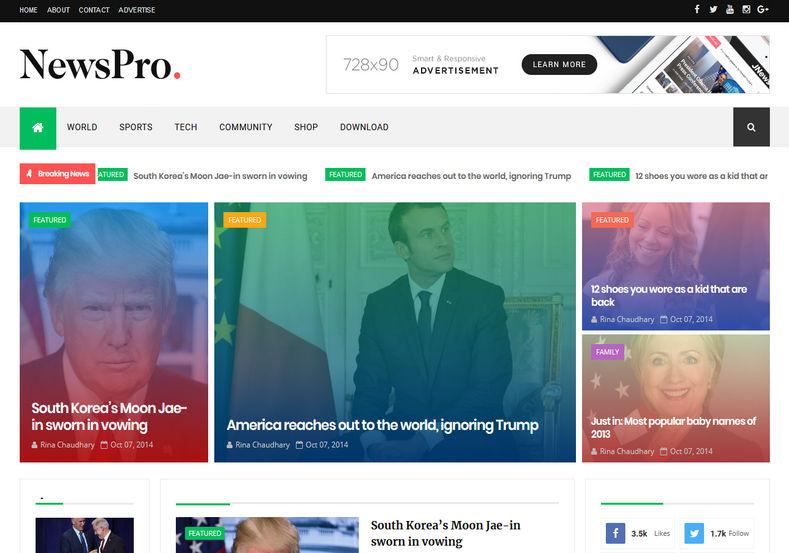 News_Pro_Blogger_Template_2