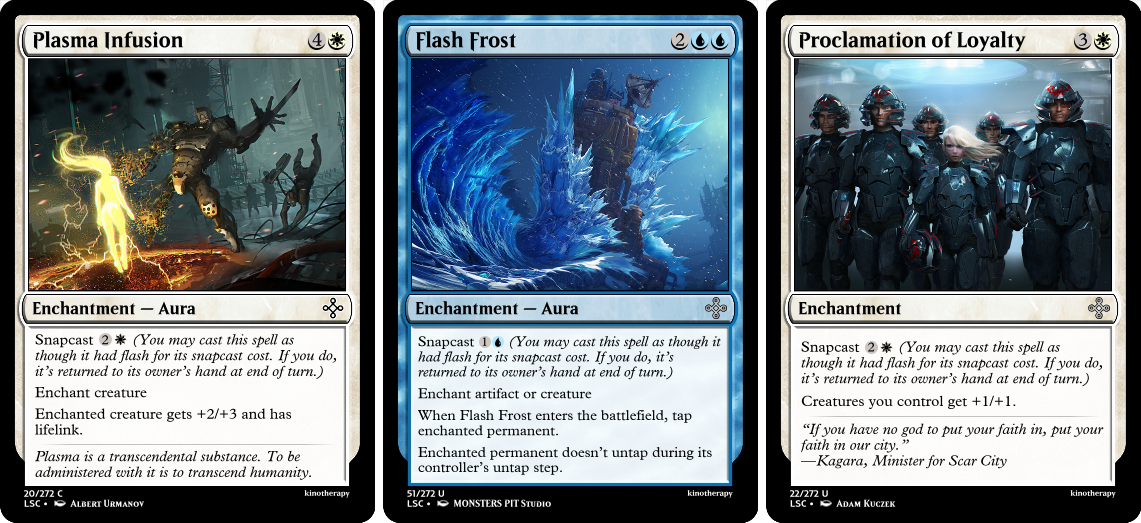 Plasma Infusion, Flash Frost, Proclamation of Loyalty