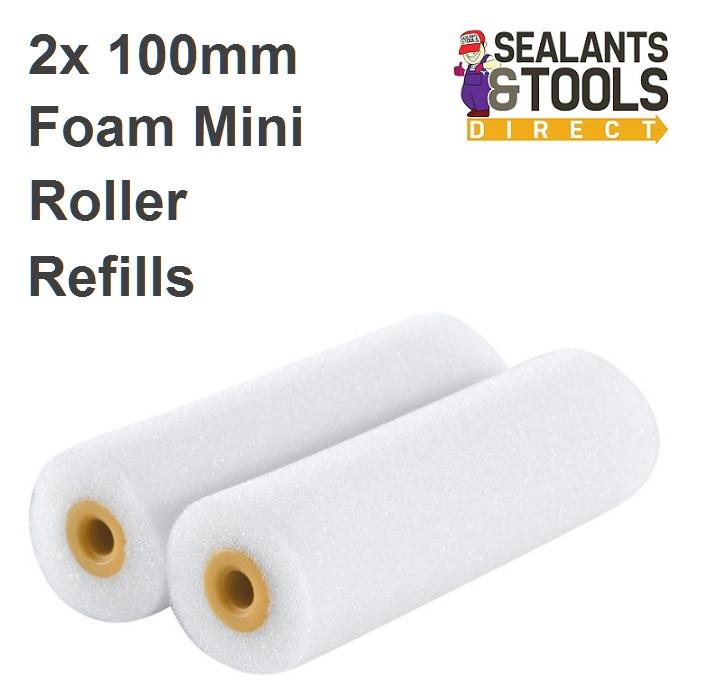 Faithfull 100mm Radiator roller refills Sponge 2pk