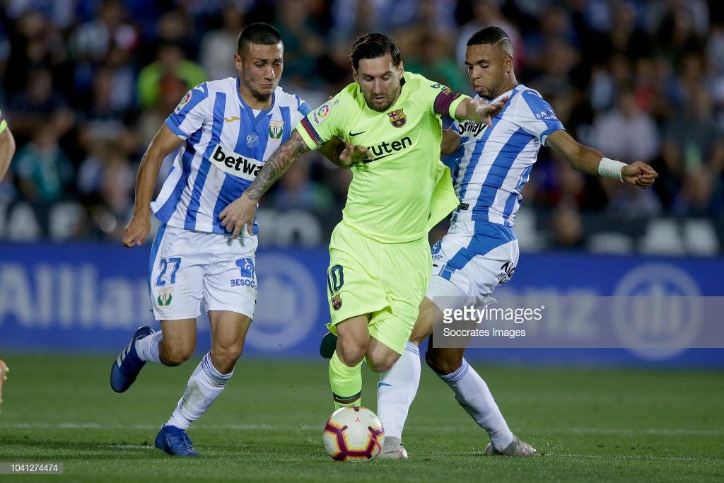 صور مباراة : ليغانيس - برشلونة 2-1 ( 26-09-2018 ) Uu