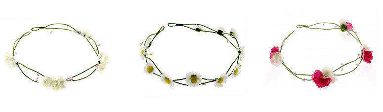 1 rose and daisy headbands corsage creations florist flower crown