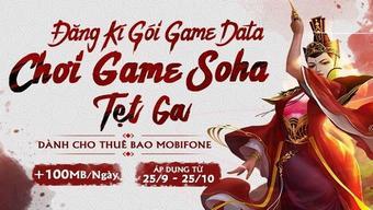 miễn phí data, mobifone, sohagame, vtc game
