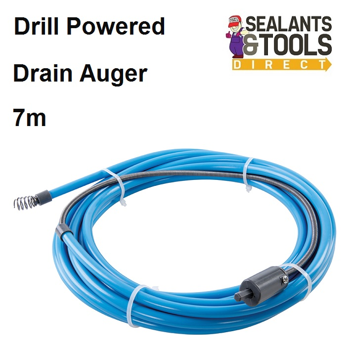 Drill Powered Drain Auger Unblocker Cleaner 7m 633025