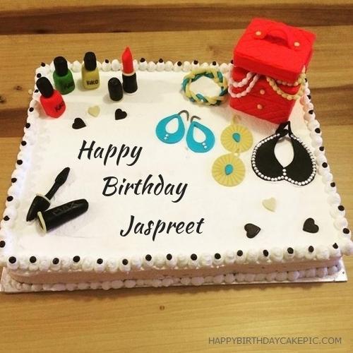cosmetics happy birthday cake for Jaspreet