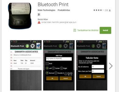 Aplikasi Bluetooth Print