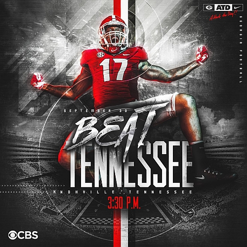 Beat Tennesse graphic from Georgia Football / Twitter