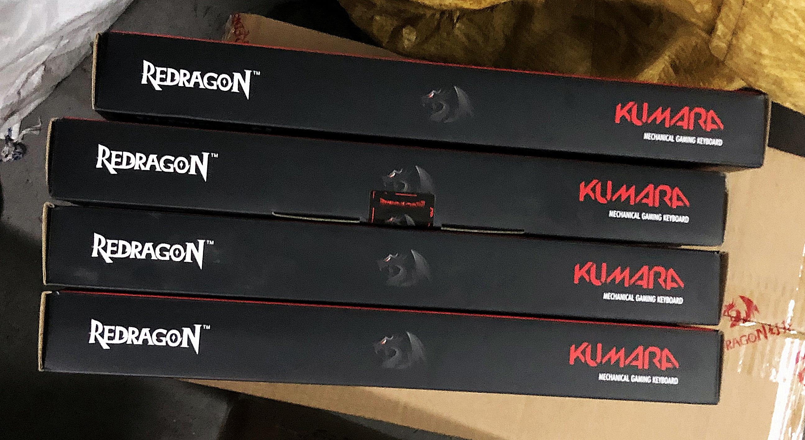 Brand New Redragon Kumara K552 Blue Switches Tenkeyless Red