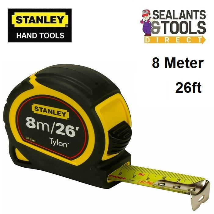 Stanley 8 meter tylon measuring tape STA030656