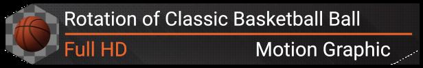 Rotation of Classic Basketball Ball | 6 Looped Shots  - 1