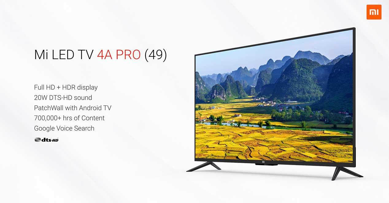 Mi LED TV 4A Pro, junto sus principales características