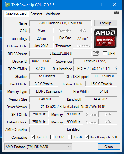 Laptop Gpu Amd r5 m330 not working anymore | Tom's Hardware Forum