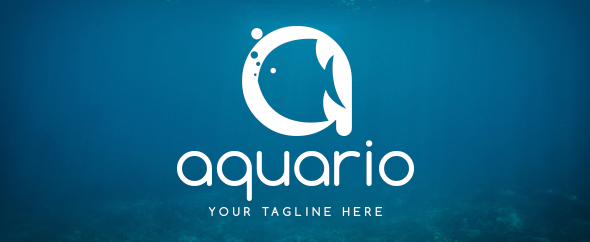 aquario logo template
