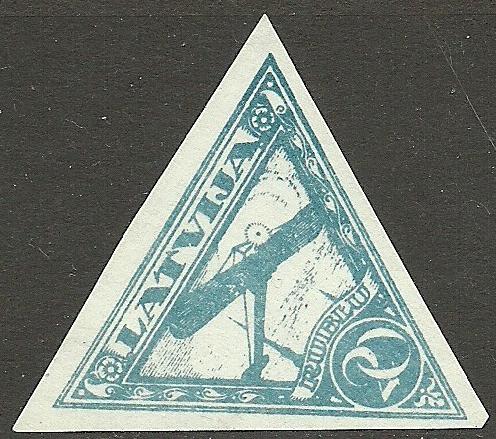 Viltota 20 rubļu pastmarka.