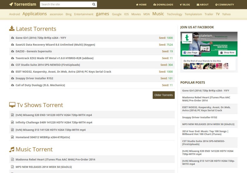 Torrentism_Blogger_Template_2