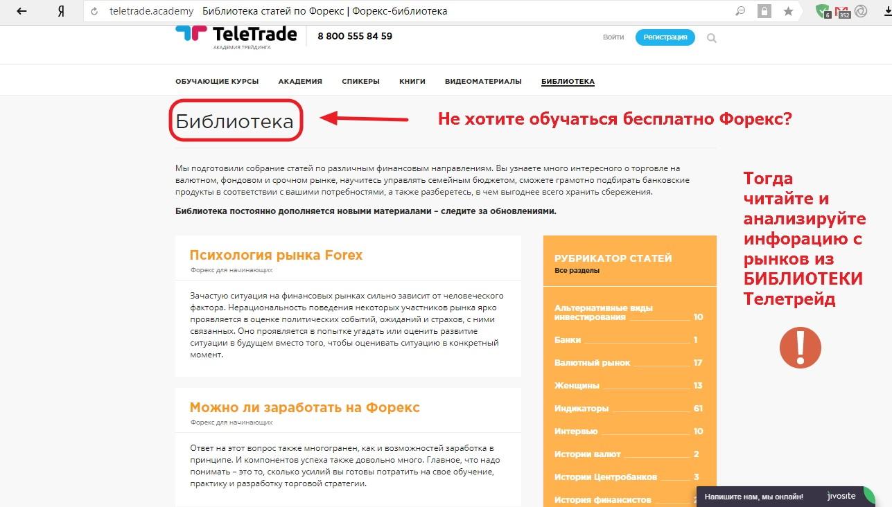 телетрейд академия