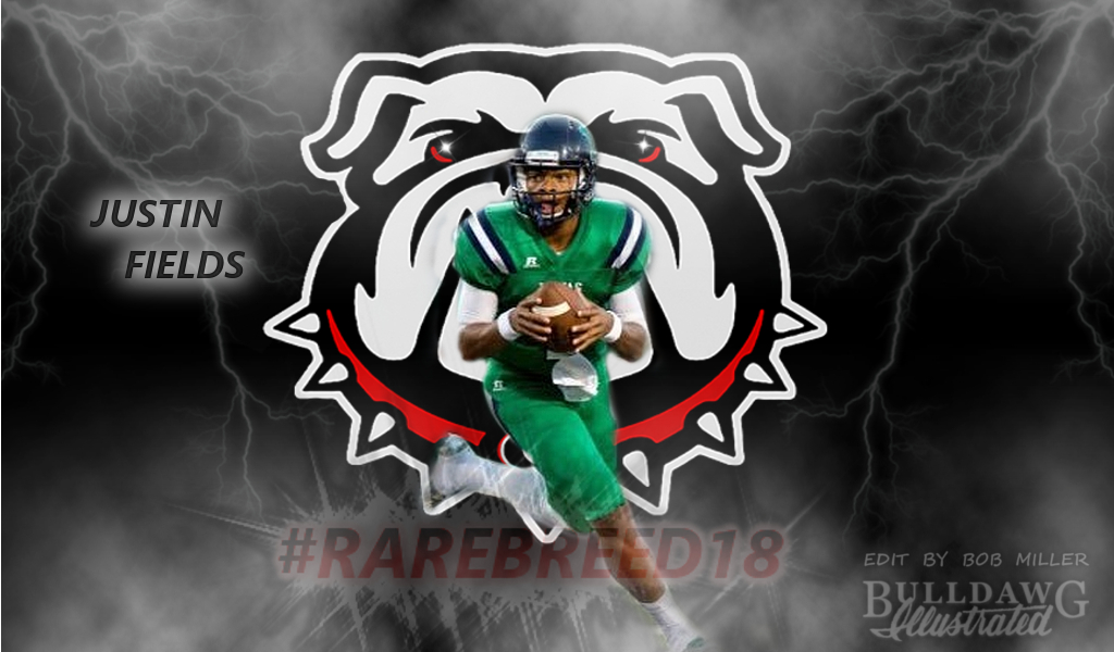 Justin Fields RAREBREEED2018 edit by Bob Miller/Bulldawg Illustrated