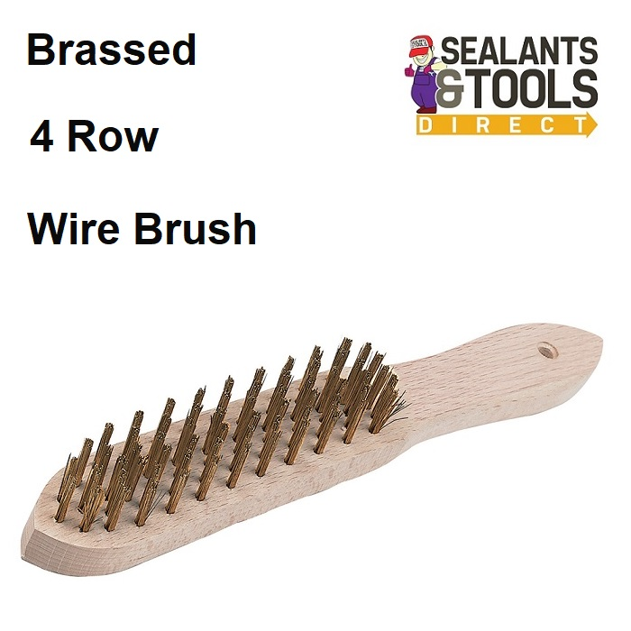 Brassed 4 Row Wire Hand Brush PB05