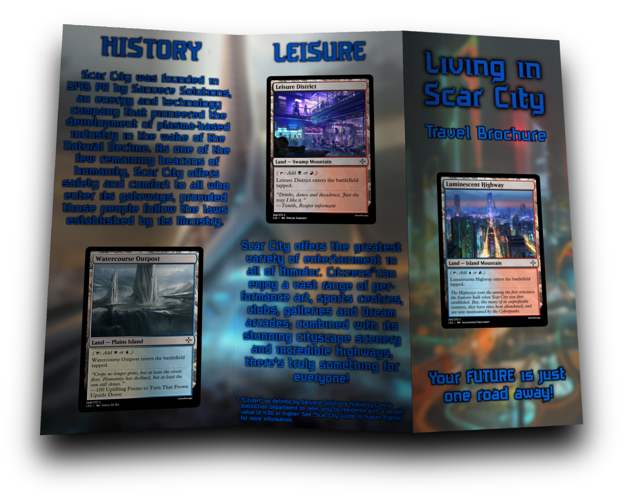 'Living in Scar City' Brochure Side 1
