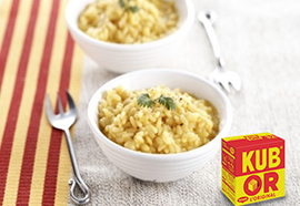 Recette risotto Kub'Or