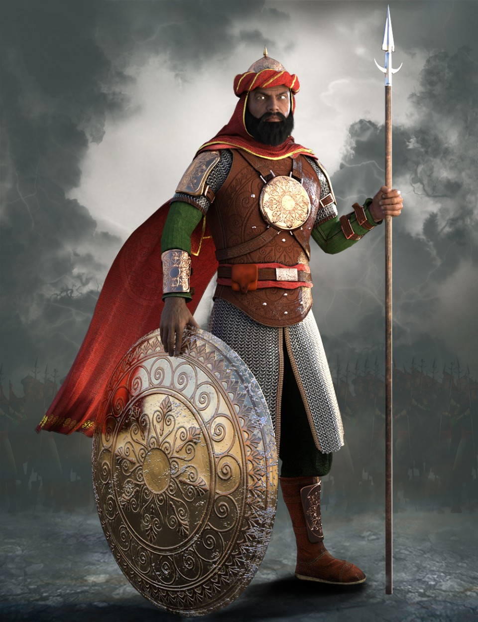 Tus - Persian Warrior Outfit for Genesis 3 Male(s)