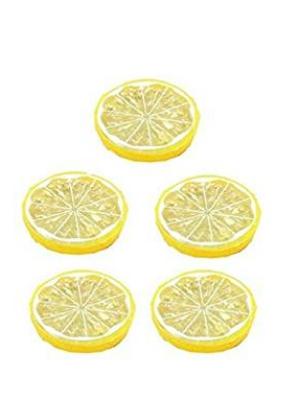 Da.Wa 5 Stück Künstliche Zitronenscheiben Deko