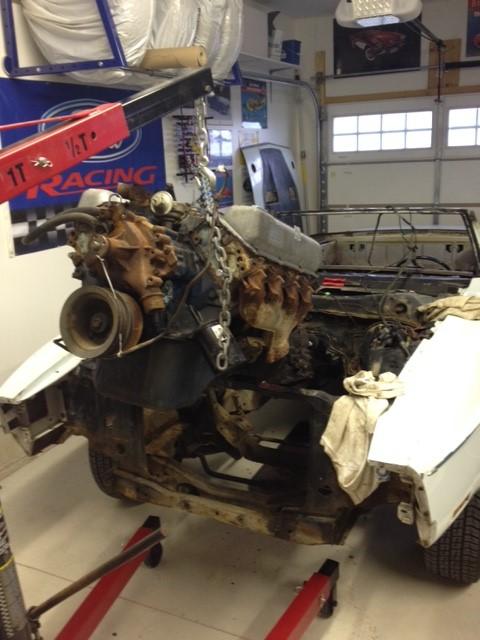429cj Motor 7 Transmission removed2 3