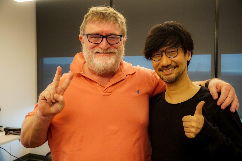 Гений Хидэо Кодзима встретился с основателем Valve и Steam