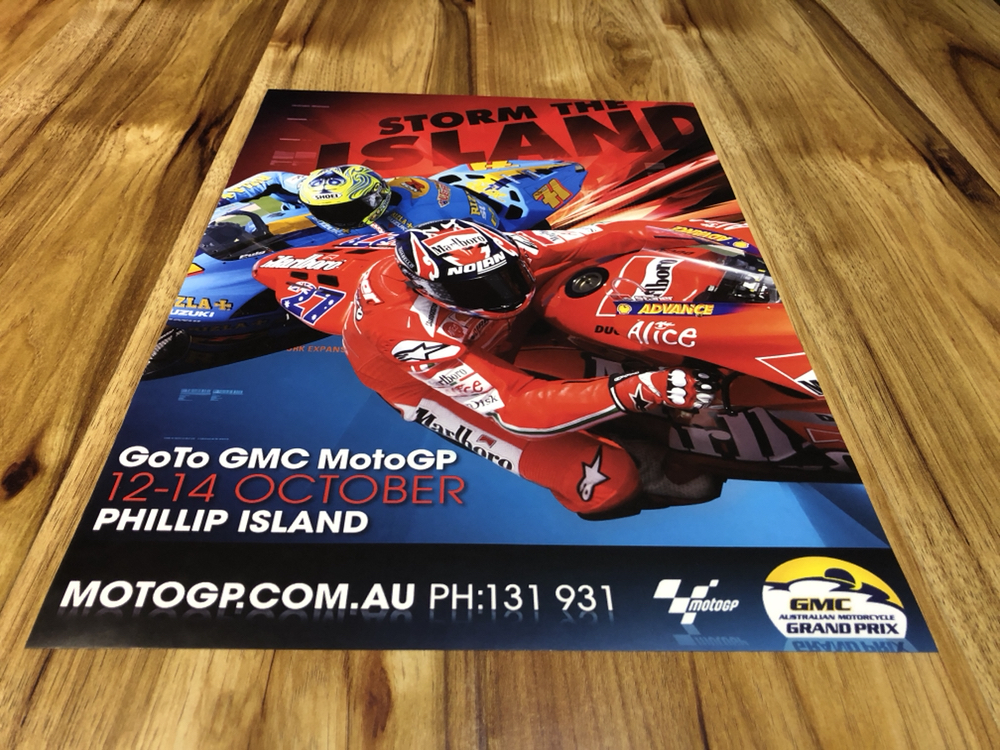 MOTOGP GRAND PRIX PHILLIP ISLAND RACE EVENT POSTERS
