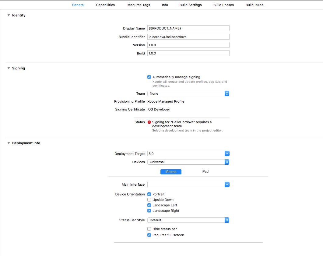 Cordova iOS Application Development Setup to Deployment