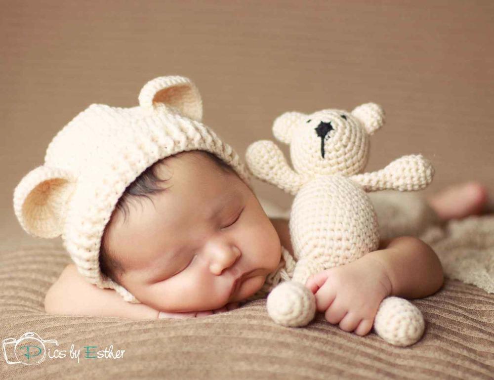 8db88c7aaabcd 3 Hat Baby Bear Crochet Newborn Preemie 0 Months Girl 6 12 9 Boy Lot ...