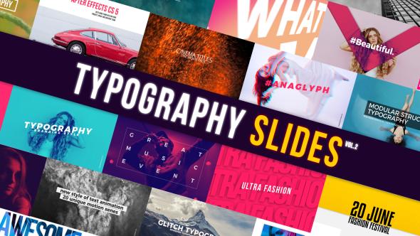 Videohive Typography Slides 21080766