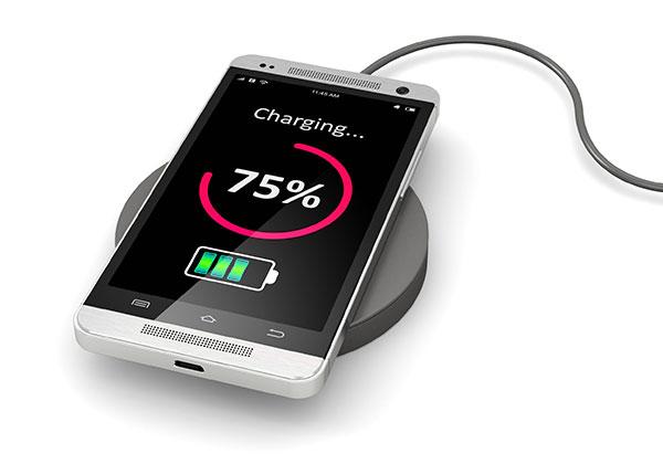 Smartphone con carga inalámbrica