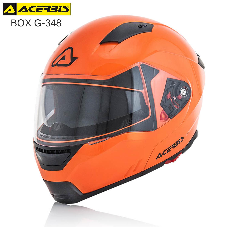 CASCO MODULARE ACERBIS BOX G-348 APRIBILE OMOLOGATO MOTO SCOOTER ARANCIO FLUO