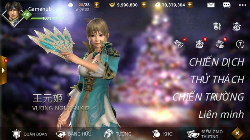 Dynasty Warriors Unleashed tung phiên bản mới chào đón Giáng Sinh