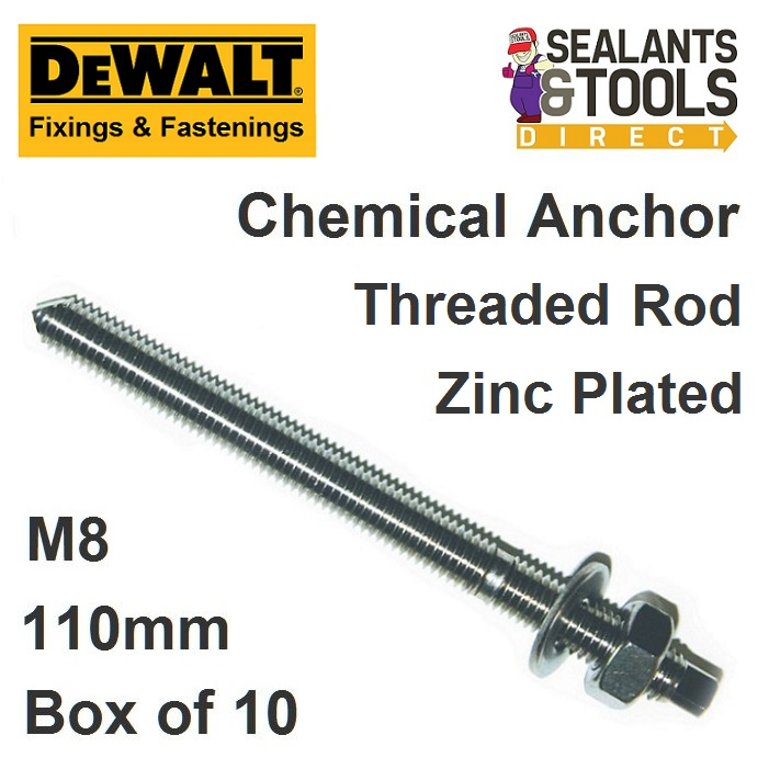 Dewalt Chemical Anchor Stud Zinc Chisel Point M8
