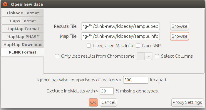 how to open plink ped map files in geneious