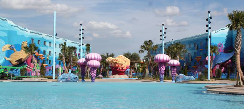The Big Blue Pool at Disney's Art of Animation Resort