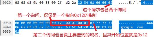 另一个包含指针的DNS请求