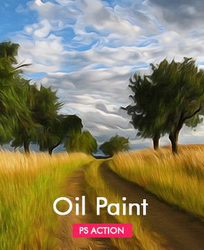 Oil Photoshop Action  - Oil paint - Tech Sketch Photoshop Action