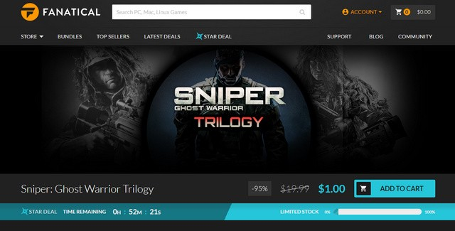 Diskon Game Sniper Ghost Warrior Trilogy