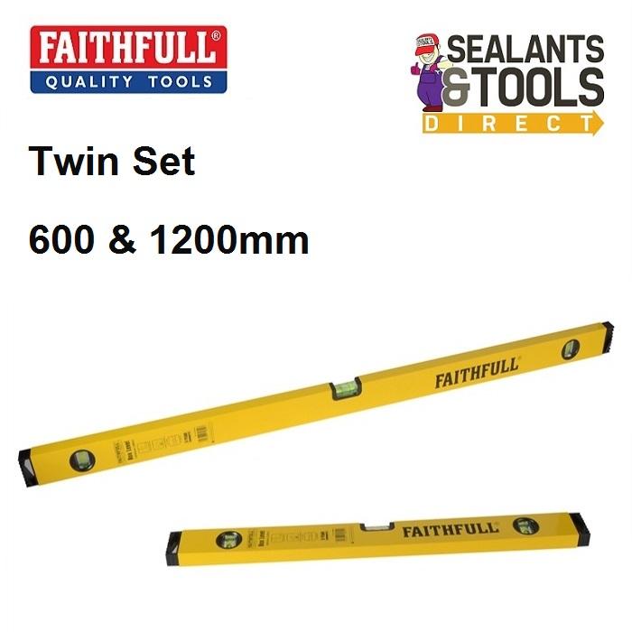 Faithfull Box Spirit level Twin Pack