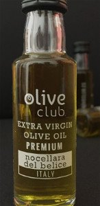 Bottle of oil Nocellara Extra Virgin olive oil