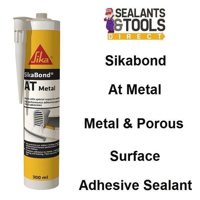 Sika SikaBond AT Metal Hybrid Adhesive Sealant Light Grey