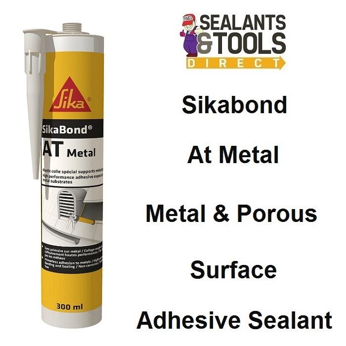 Sika SikaBond AT Metal Hybrid Adhesive Sealant Light Grey