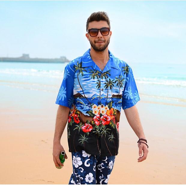 desain kaos baju pantai