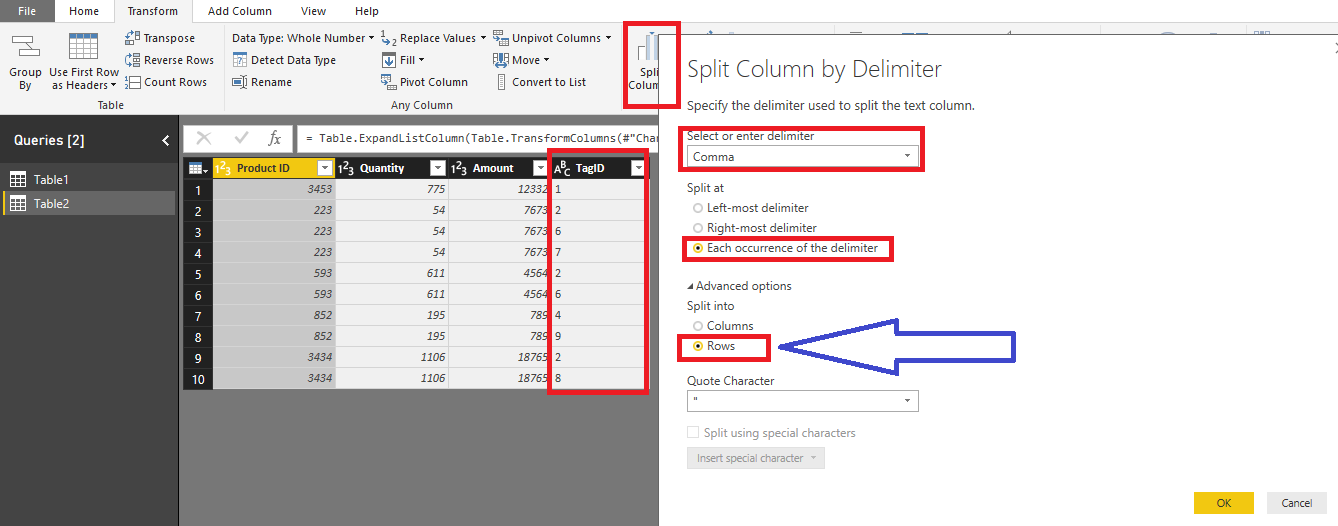 Manage Relationship and joining a table on a csv column