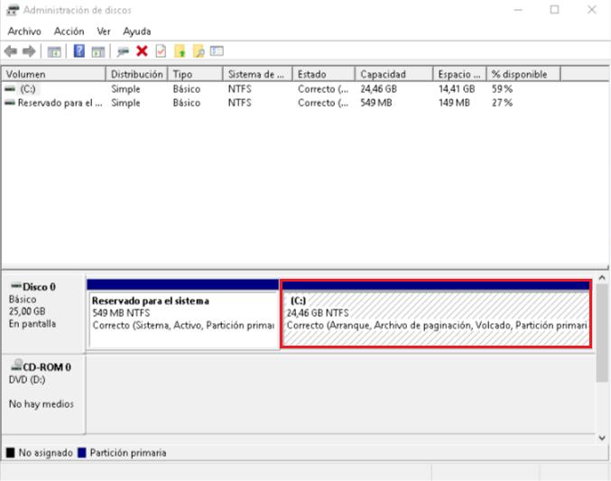 Instalar Windows sin USB ni CDs - Partición C