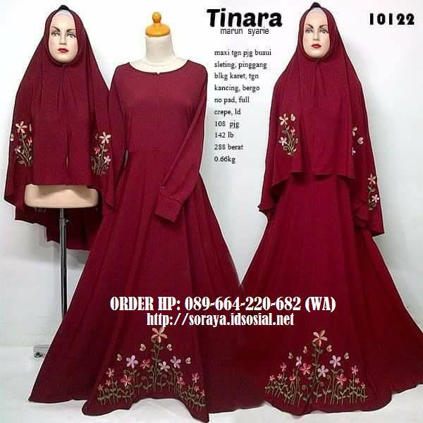 Jual Baju Perempuan Muslimah Model Tinara Marun Syarie